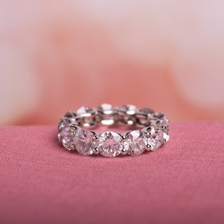 Miadora Signature Collection 19k White Gold 9 1/4ct TDW Diamond Eternity Ring (H-I, I2-I3)