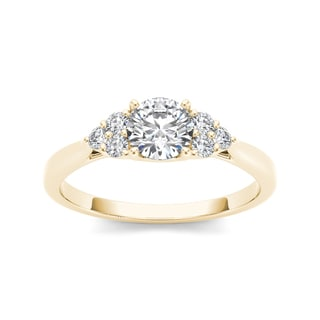 De Couer 14k Yellow Gold 3/4ct TDW Diamond Classic Engagement Ring (H-I, I2)