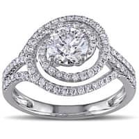 Miadora Signature Collection 18k White Gold 1 1/2ct TDW Diamond Engagement Ring