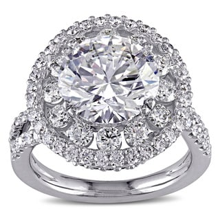 Miadora Signature Collection 18k White Gold 5 1/3ct TDW Certified Diamond Engagement Ring (G, SI2, GIA)