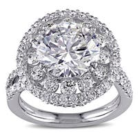 Miadora Signature Collection 18k White Gold 5 1/3ct TDW Certified Diamond Engagement Ring