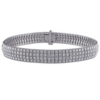 Miadora Signature Collection 14k White Gold 4 1/8ct TDW Diamond Bracelet