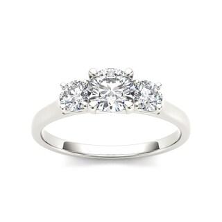 De Couer 14k White Gold 1 1/4ct TDW Diamond Three-Stone Anniversary Ring (H-I, I2)