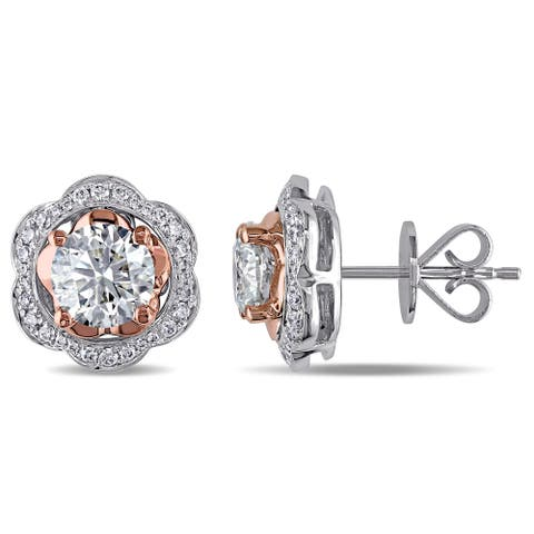 Miadora Signature Collection 14k Two-Tone Gold and 2 3/8ct TDW Diamond Earrings