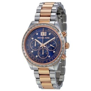 Michael Kors Women's MK6205 'Brinkley' Chronograph Crystal Two-Tone Stainless Steel Watch