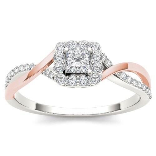 De Couer Igi Certified 10k Rose Gold 1 2ct Tdw Diamond Clic Criss Cross