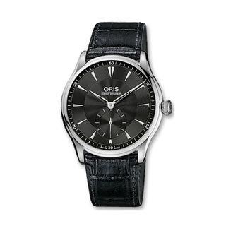 Oris Men's 39675804054LS 'Artelier' Hand Winding Black Leather Watch