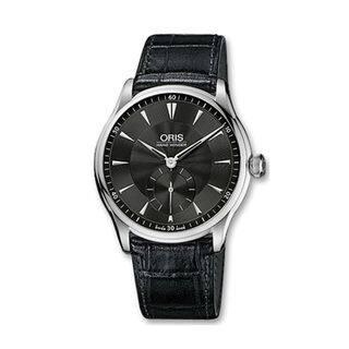 Oris Men's 39675804054LS 'Artelier' Hand Winding Black Leather Watch|https://ak1.ostkcdn.com/images/products/10389566/P17493318.jpg?impolicy=medium