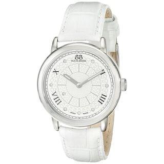 Rue Du Rhone Women's 87WA120008 'Double 8' Diamond White Leather Watch