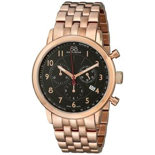 Rue Du Rhone Men's 87WA120049 'Double 8' Chronograph Rose-Tone Stainless Steel Watch