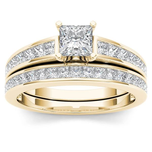 Shop De Couer 14k Yellow Gold 1 1 2ct Tdw Diamond Classic Engagement
