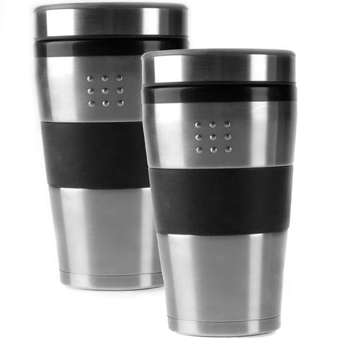 BergHOFF Orion 2-piece 16-ounce Stainless Steel Travel Mugs