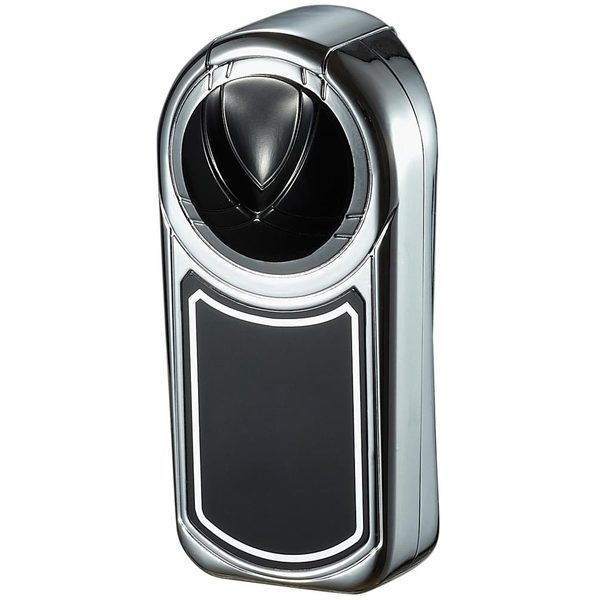 Visol Dobrev III Triple Torch Flame Polished Chrome and Black Cigar Lighter - Ships Degassed