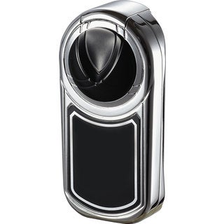 Visol Dobrev Single Jet Flame Cigar Lighter - Black Matte and Chrome - Ships Degassed