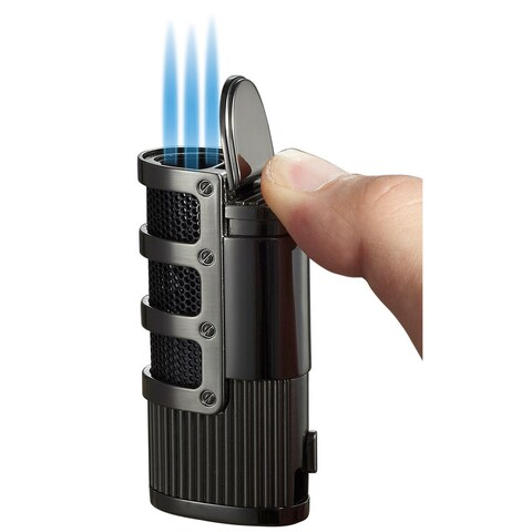 Visol Cato Triple Jet Flame Lighter - Gun Matte - Ships Degassed