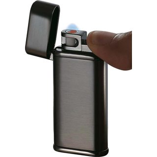 Visol Tendre Satin Gunmetal Finish Coil Flame Lighter - Ships Degassed
