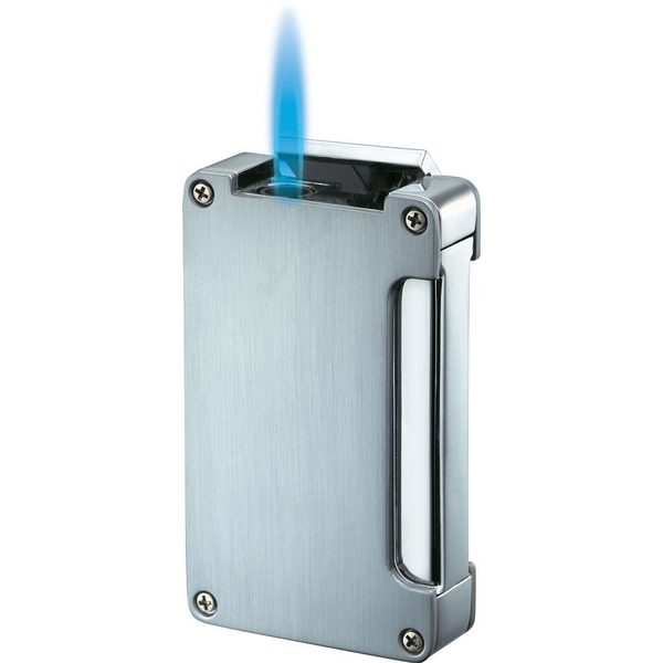 Visol Zidane Single Jet Flame Lighter - Chrome - Ships Degassed