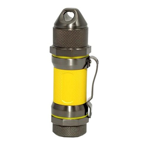 Visol Storm Gunmetal / Yellow High Altitude Windproof Lighter - Ships Degassed