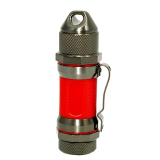 Visol Storm Gunmetal / Red High Altitude Windproof Lighter- Ships Degassed
