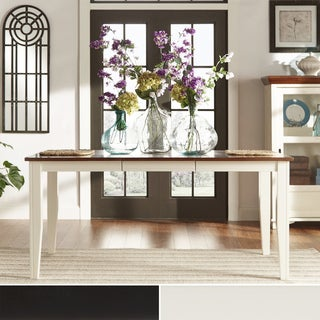 Tribecca Home Eli Rustic Two-tone Mission Extending Dining Table