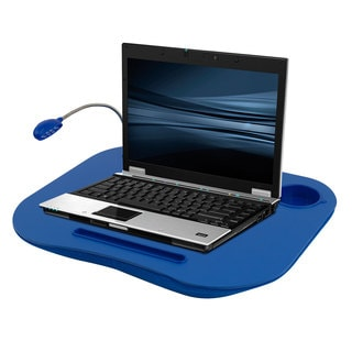 Laptop Lap Desk, Portable With Foam Cushion, LED Desk Light, & Cup Holder By Laptop Buddy