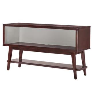 MID-CENTURY LIVING Sasha Angled Leg Open Shelf Console Table