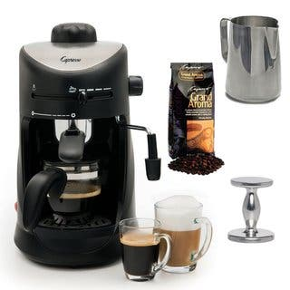 Capresso 303.01 4-Cup Espresso/Cappuccino Machine Bundle|https://ak1.ostkcdn.com/images/products/10389892/P17493552.jpg?impolicy=medium