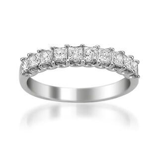 Montebello Platinum 1ct TDW Princess Cut White Diamond Wedding Band