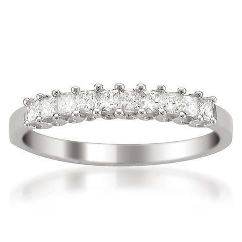 Montebello Platinum 1/2ct TDW Princess-cut Diamond Wedding Band
