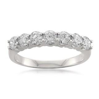 Montebello Platinum 1ct TDW Round-cut White Diamond Wedding Band (G-H, SI1-SI2)