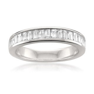 Link to Montebello 14KT White Gold 1ct TDW Baguette-cut Diamond Wedding Band Similar Items in Wedding Rings