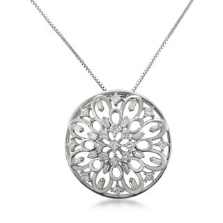 Montebello 14k White Gold 1/2ct TDW Diamond Pendant (H-I, SI1-SI2)