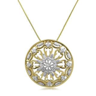 Montebello 14k Yellow Gold 7/8ct TDW Diamond One-of-a-Kind Round Pendant (H-I, SI1-SI2)