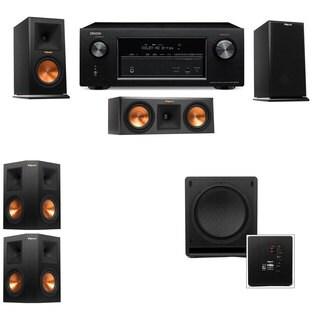 Klipsch RP-150M-E Monitor Speaker 5.1 SW-112 Denon AVR-X2100W