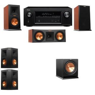 Klipsch RP-150M-CH Monitor Speaker 5.1 R112SW Denon AVR-X2100W