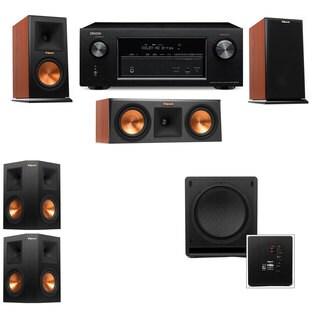 Klipsch RP-150M-CH Monitor Speaker 5.1 SW-112 Denon AVR-X2100W