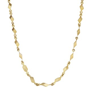 Fremada 14k Yellow Gold High Polish Cube Link Design Necklace