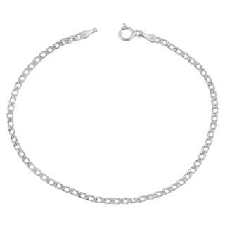 Fremada 14k White Gold 2-mm Diamond Weave Bracelet
