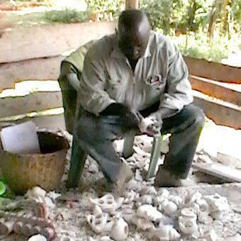 """Handmade 8"""" Black Soapstone Lover's Heart Sculpture (Kenya)"""
