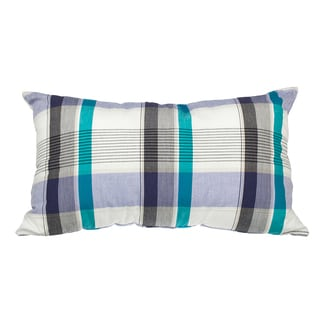 Patchwork Plaid 12x20 Down Alternative Filled Throw Pillow
