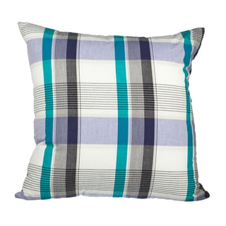 Patchwork Plaid Down Alternative Filled 18-inch Throw Pillow