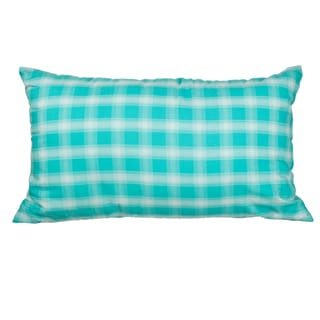 Mint Plaid 12x20-inch Down Alternative Filled Throw Pillow
