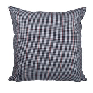 Blue Glen Plaid Prince of Wales Check 18-inch Throw Pillow