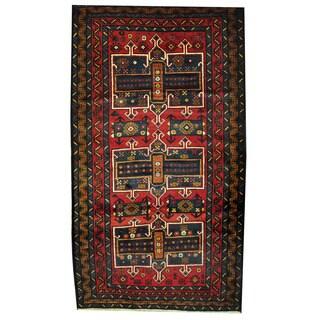 Herat Oriental Afghan Hand-knotted Tribal Balouchi Wool Rug (3'10 x 6'10) - 3'10 x 6'10