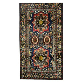 Herat Oriental Afghan Hand-knotted Tribal Balouchi Wool Rug (3'10 x 6'8)