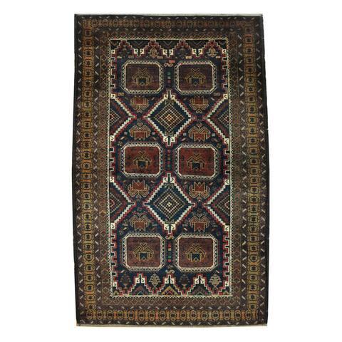 Handmade One-of-a-Kind Balouchi Wool Rug (Afghanistan) - 3'10 x 6'1