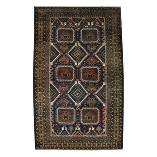 Herat Oriental Afghan Hand-knotted Tribal Balouchi Wool Rug (3'10 x 6'1)