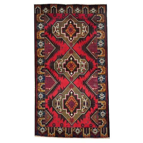 Handmade One-of-a-Kind Balouchi Wool Rug (Afghanistan) - 3'7 x 6'6