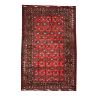 Herat Oriental Afghan Hand-knotted Tribal Balouchi Wool Rug (3'10 x 6')