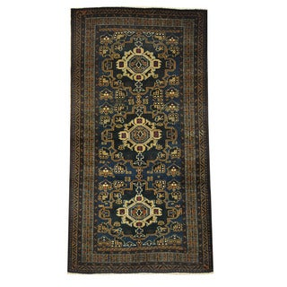 Herat Oriental Afghan Hand-knotted Tribal Balouchi Wool Rug (3'4 x 6'6)